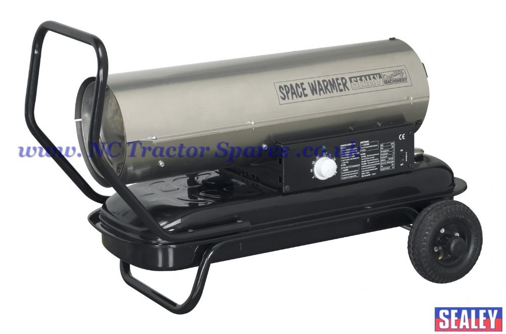 Space Warmer Paraffin, Kerosene & Diesel Heater 70,000Btu/hr with Wheels Stainless Steel